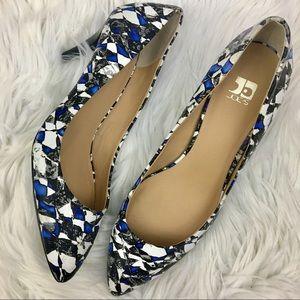 Joe's Jeans Geometric print kitten heels pumps
